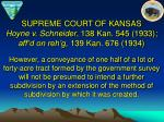 supreme court of kansas hoyne v schneider 138 kan 545 1933 aff d on reh g 139 kan 676 19342