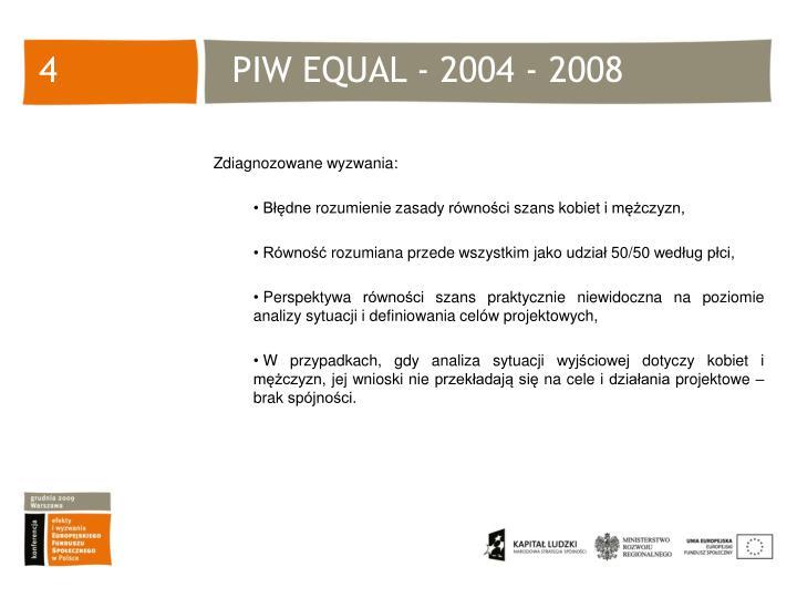 PIW EQUAL - 2004 - 2008