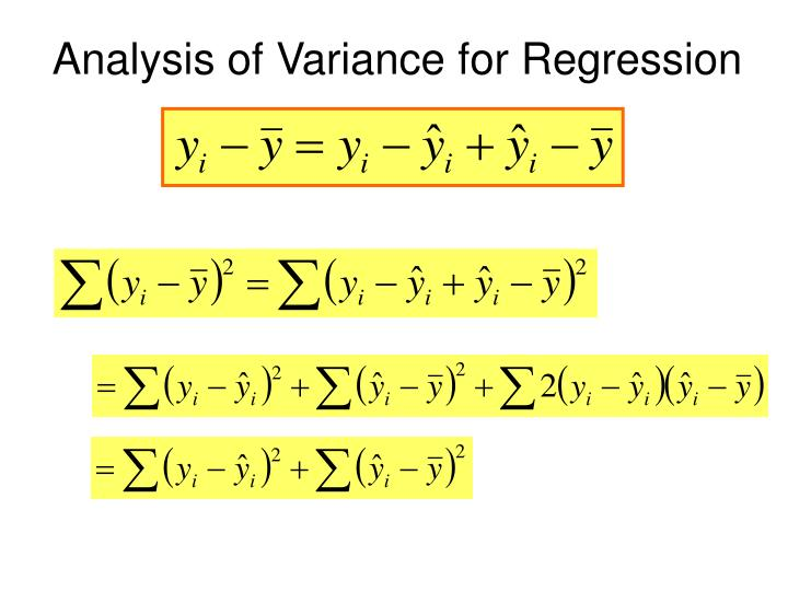 Analysis of Variance for Regression