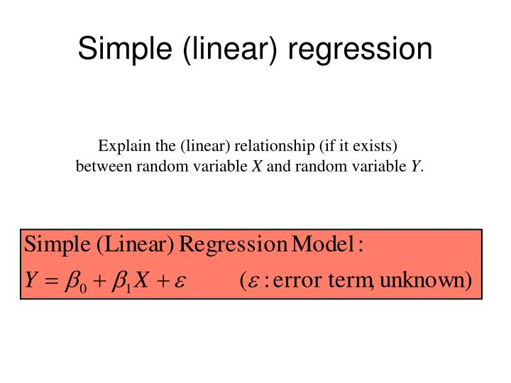 Simple (linear) regression