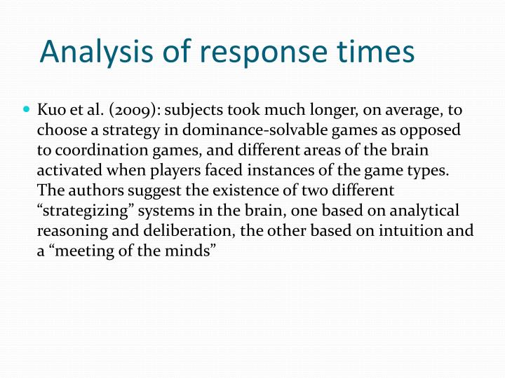 Analysis of response times