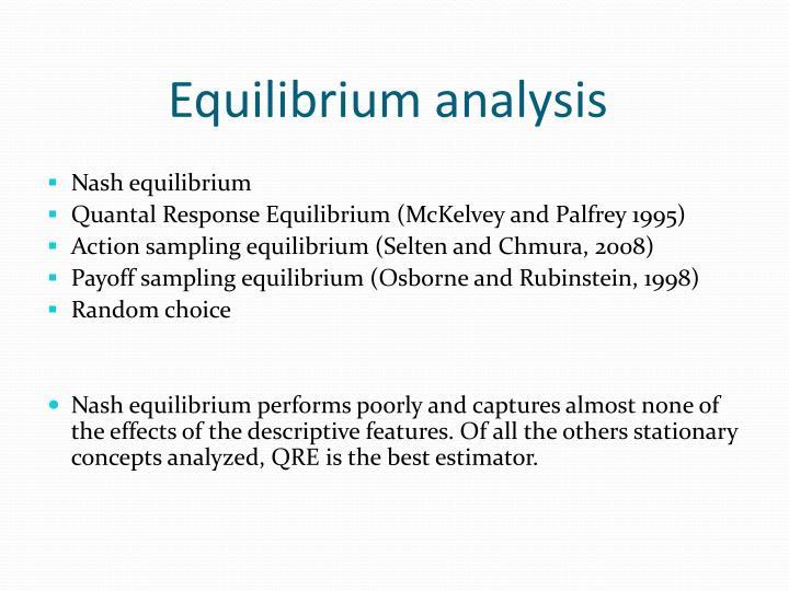Equilibrium analysis