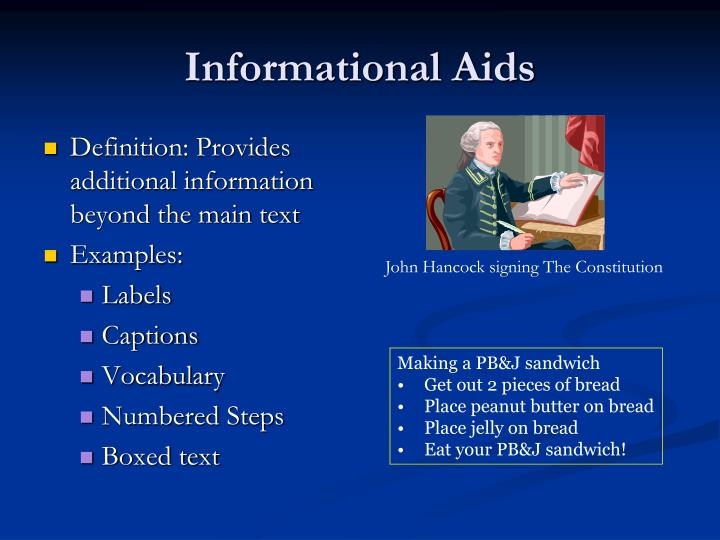 Informational Aids
