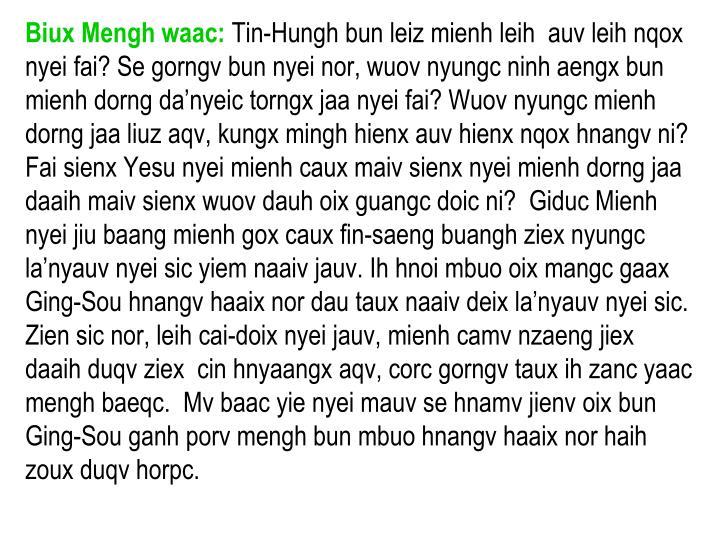Biux Mengh waac: