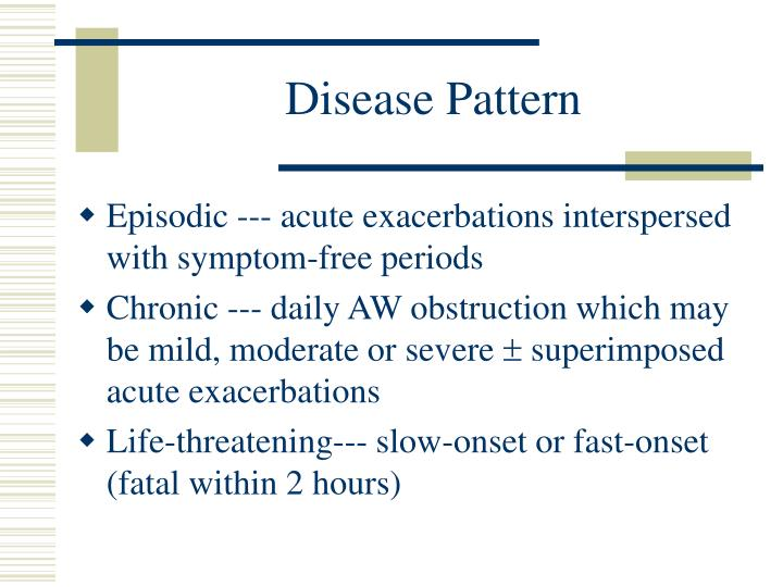 Disease Pattern