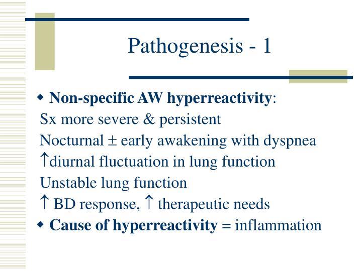 Pathogenesis - 1