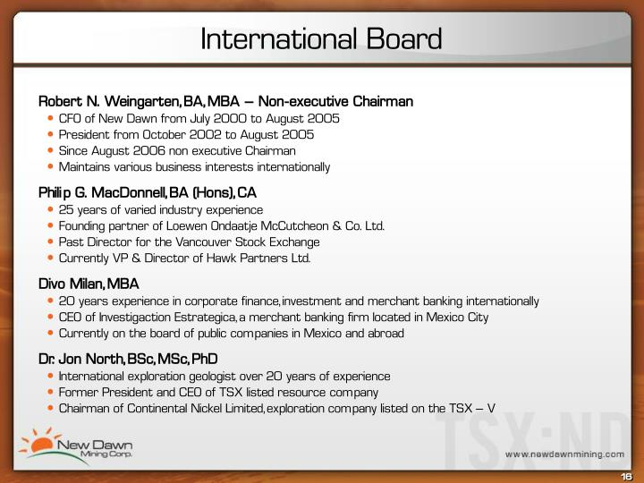 International Board
