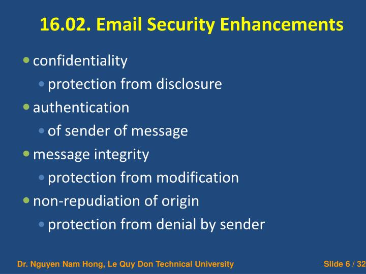 16.02. Email Security Enhancements