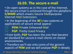 16 03 the secure e mail