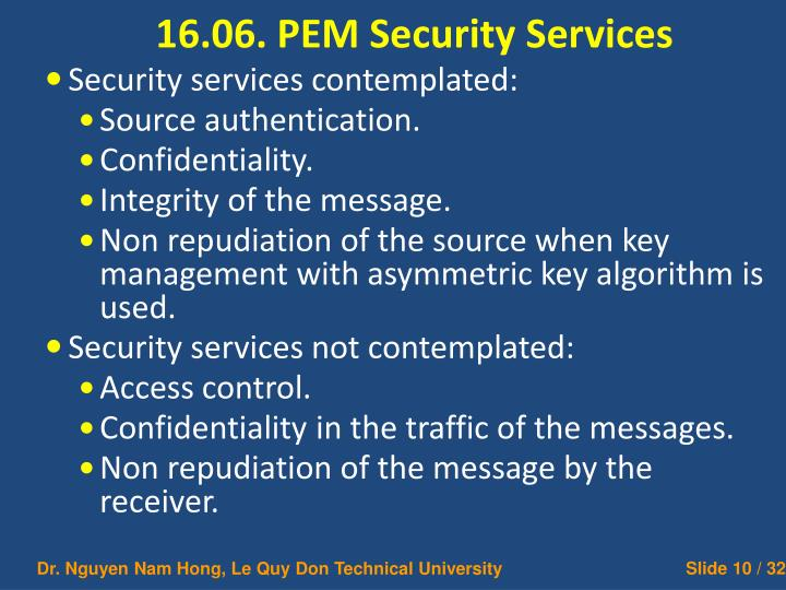 16.06. PEM Security Services