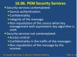 16 06 pem security services