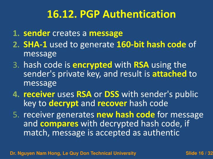 16.12. PGP Authentication