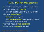 16 21 pgp key management