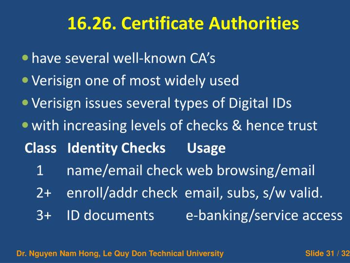 16.26. Certificate Authorities