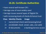 16 26 certificate authorities