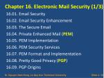 chapter 16 electronic mail security 1 3