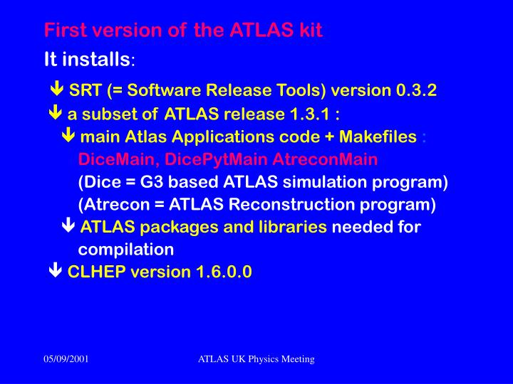 First version of the ATLAS kit