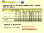 sub problem 3b shenendehowa campus pm peak with conditions