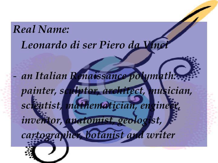 Real Name: