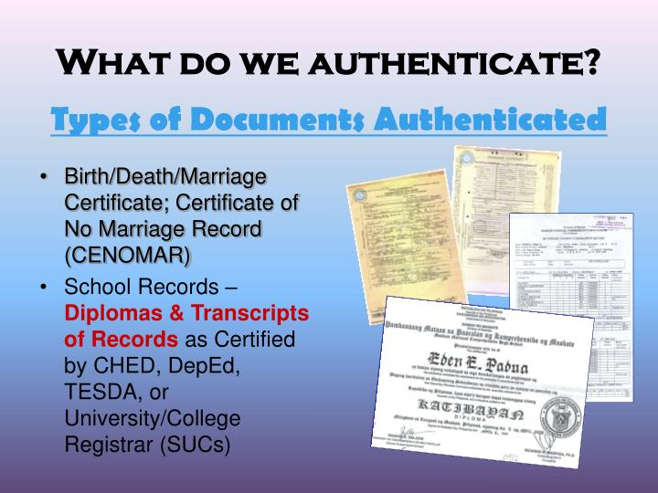 What do we authenticate?