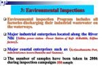 3 environmental inspections