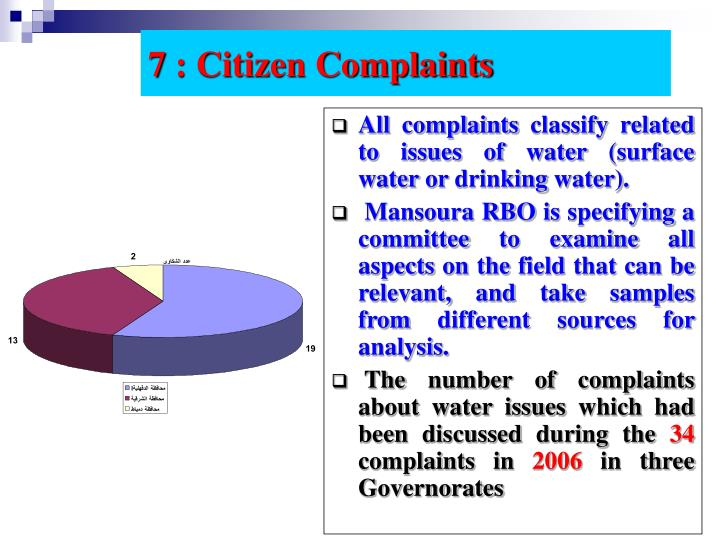 7 : Citizen Complaints
