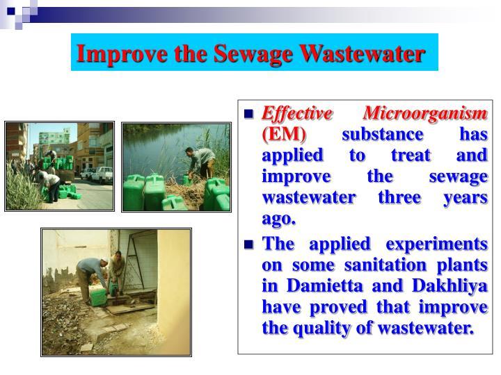 Improve the Sewage Wastewater