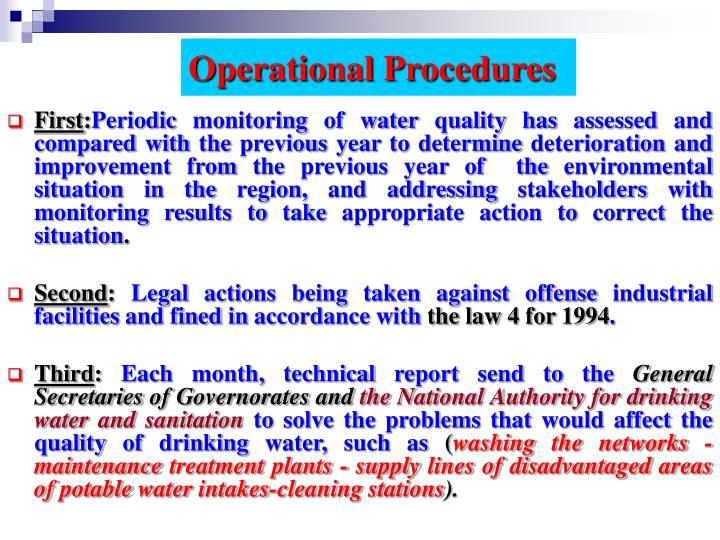 Operational Procedures