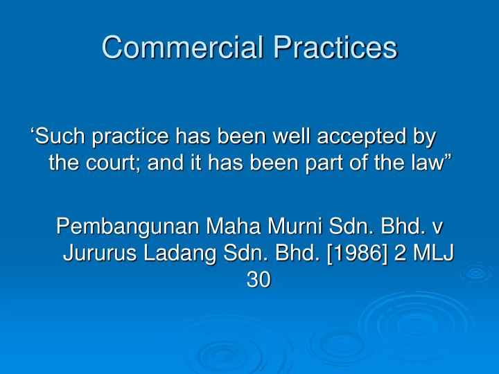 Commercial Practices