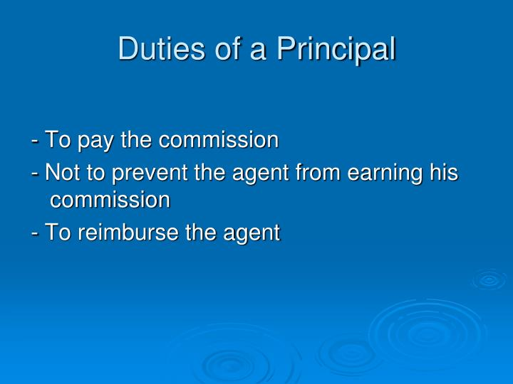 Duties of a Principal