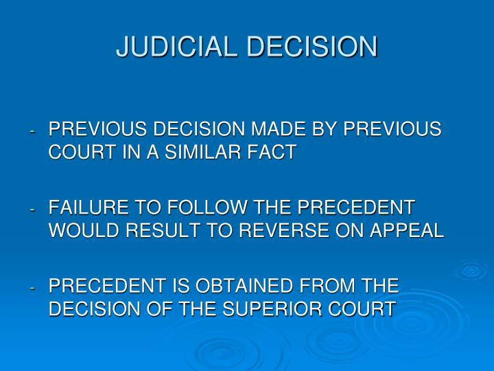 JUDICIAL DECISION