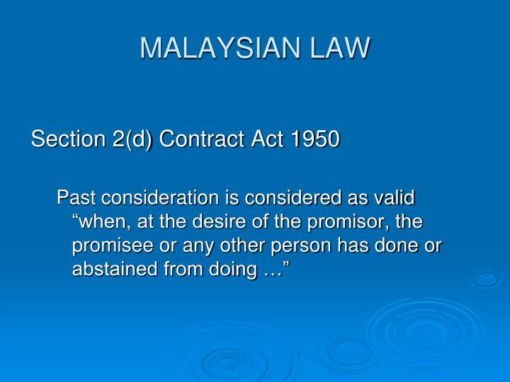 MALAYSIAN LAW