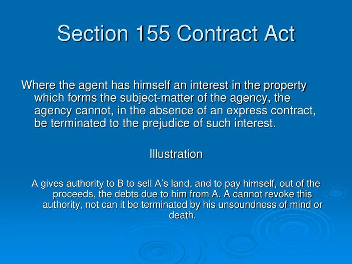 Section 155 Contract Act