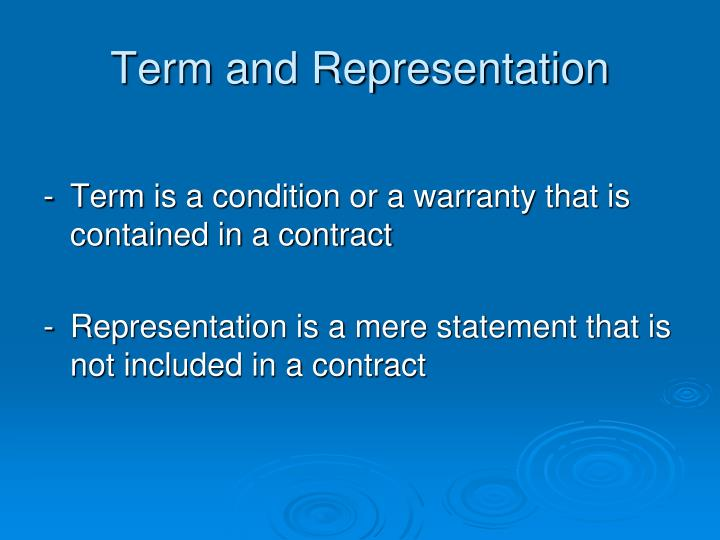 Term and Representation