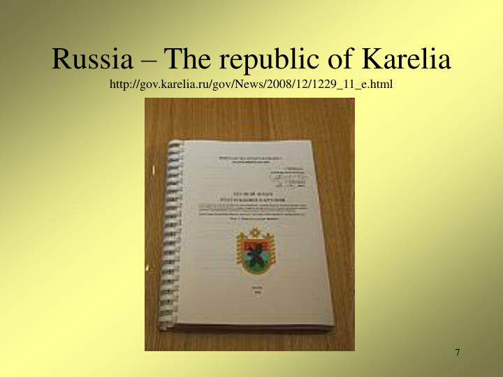 Russia – The republic of Karelia