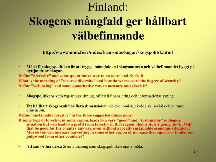 Finland: