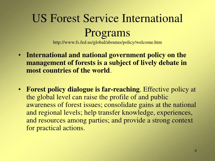 US Forest Service International Programs