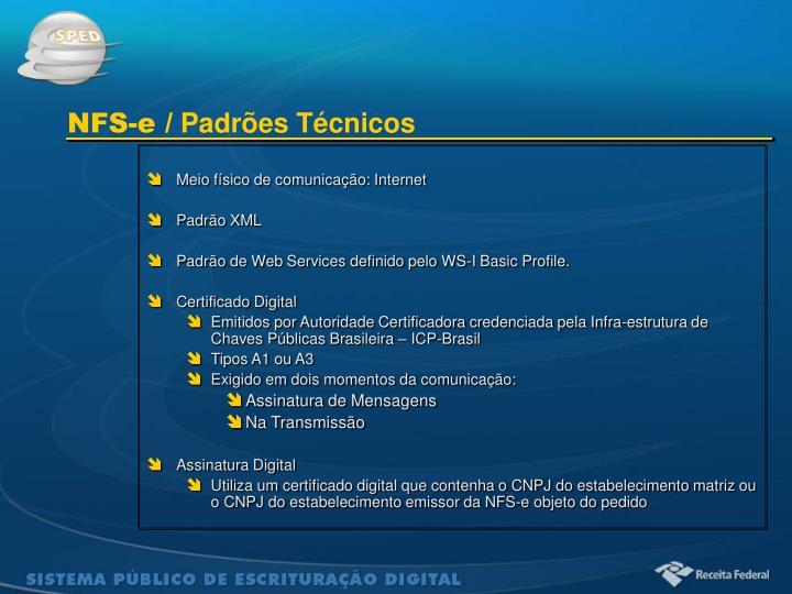Meio físico de comunicação: Internet