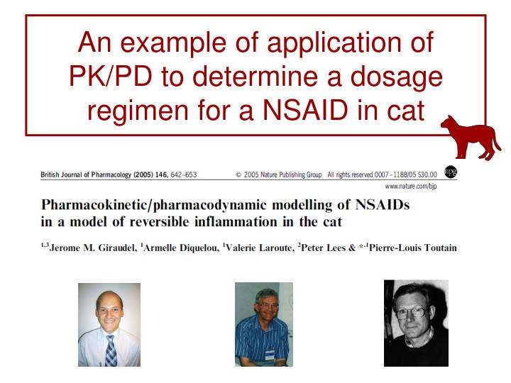 An example of application of PK/PD to determine a dosage regimen for a NSAID in cat