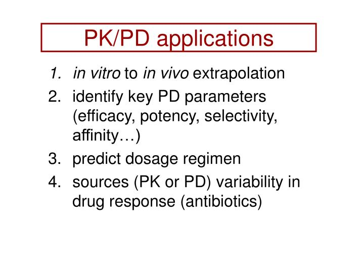 PK/PD applications