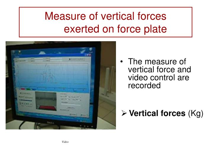 Measure of vertical forces