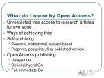 what do i mean by open access
