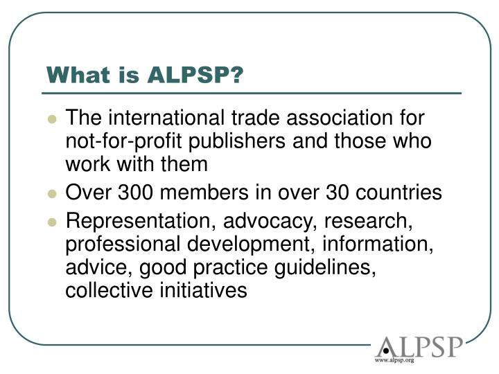What is ALPSP?