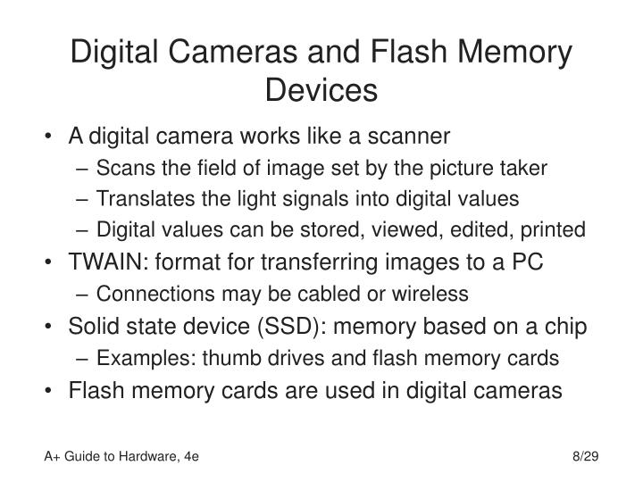 Digital Cameras and Flash Memory Devices