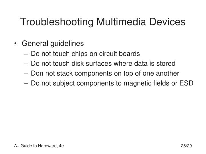 Troubleshooting Multimedia Devices