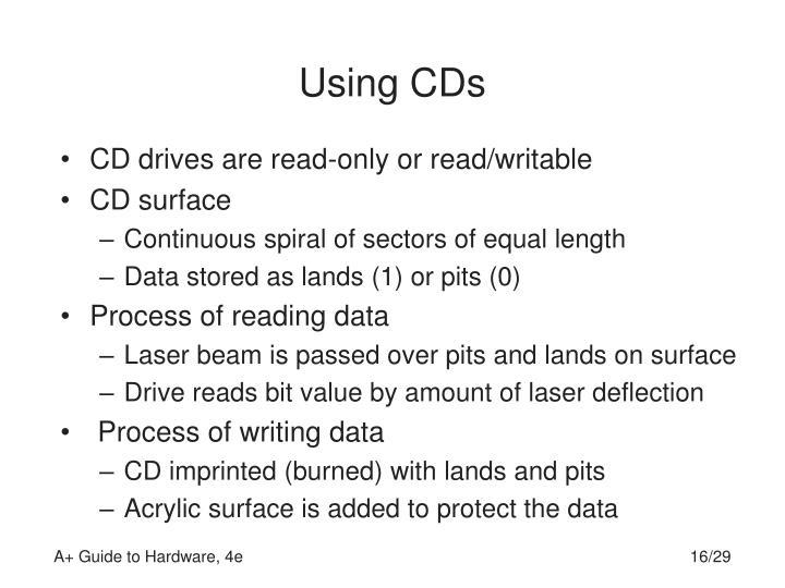 Using CDs