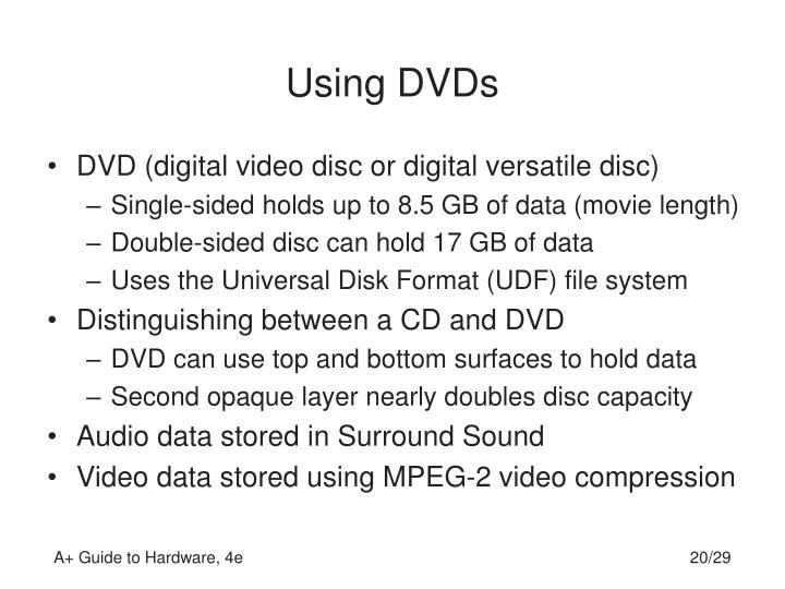 Using DVDs