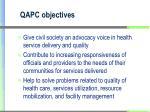 qapc objectives
