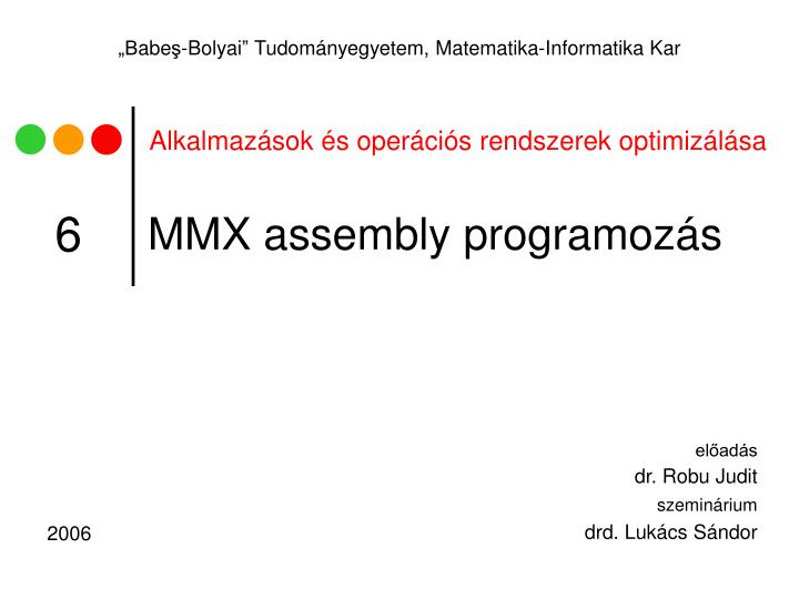 Mmx assembly programoz s