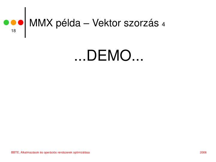 MMX példa – Vektor szorzás
